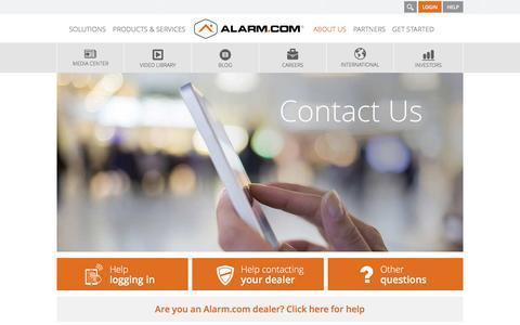 Contact Alarm.com