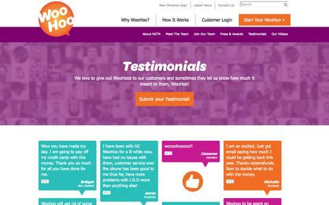 Screenshot of Testimonials Page nztaxrefunds.co.nz - Customer Testimonials | NZ Tax Refunds - captured Nov. 3, 2014