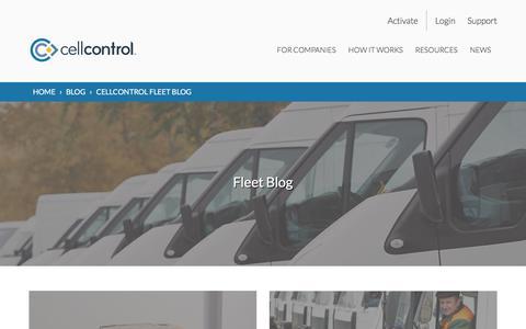 Screenshot of Blog cellcontrol.com captured April 22, 2018