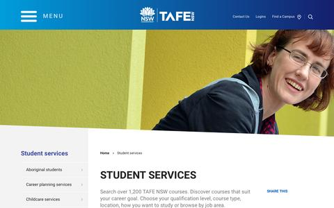 Student services - TAFE