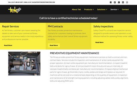 Screenshot of Services Page tekfitnessdistributors.com - Fitness and Gym Equipment Service | Tek Fitness Distributors - Arizona's best fitness equipment provider, maintenance and gym designer - captured Dec. 10, 2018