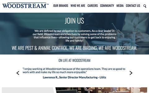 Screenshot of Jobs Page woodstream.com - Careers | Woodstream - captured Sept. 22, 2018
