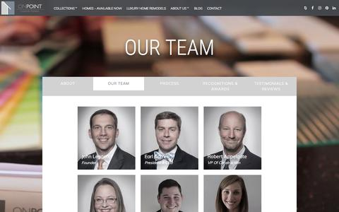 Screenshot of Team Page onpointcustomhomes.com - Our Team – On Point Custom Homes - captured Sept. 20, 2018