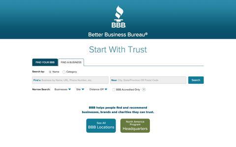 Better Business Bureau: Start With Trust®
