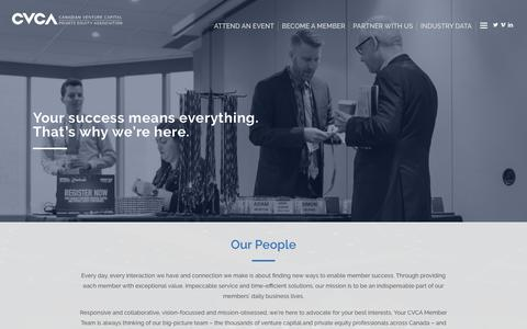 Screenshot of Team Page cvca.ca - Our People – Canadian Venture Capital and Private Equity Association - captured Oct. 15, 2018
