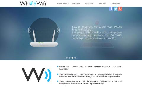 Screenshot of Contact Page Pricing Page whizzwifi.com - Whizz WiFi - India's first public WiFi hotspot software solution with social logins! - captured Oct. 26, 2014