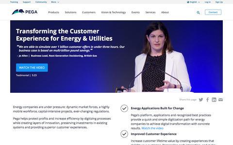 Energy & Utilities Management Software | Pega
