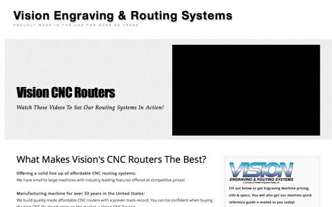 Screenshot of Landing Page visionengravers.com - CNC Routing Machine   CNC Router   Vision Engraving & Routing - captured Oct. 19, 2016