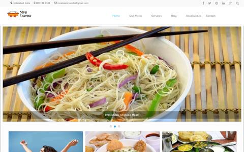 Screenshot of Home Page mealexpressindia.com - Meal Express | Enjoy Perfect Indian Meal - captured Sept. 10, 2014