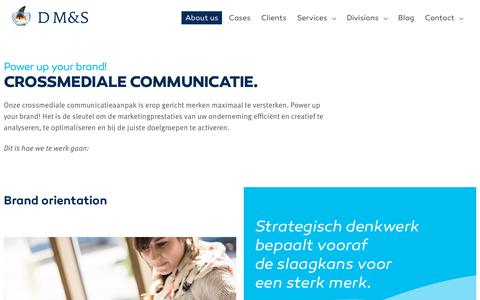 Screenshot of About Page dms.be - Crossmediale communicatie | D'M&S Communications - captured July 25, 2018