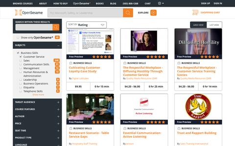 Screenshot of Support Page opensesame.com - Communication Skills and Customer Service Training Courses Online | OpenSesame - captured Jan. 18, 2016