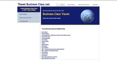 Screenshot of Maps & Directions Page travelbusinessclass.net - Business Class Travel, First Class Travel, Luxury Travel - captured Jan. 25, 2017