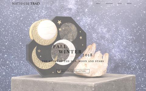 Screenshot of Home Page nathalietrad.com - NATHALIE TRAD - captured Oct. 18, 2018