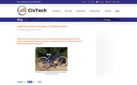 Screenshot of Blog civtech.com - Blog «  Civtech - captured Oct. 2, 2014
