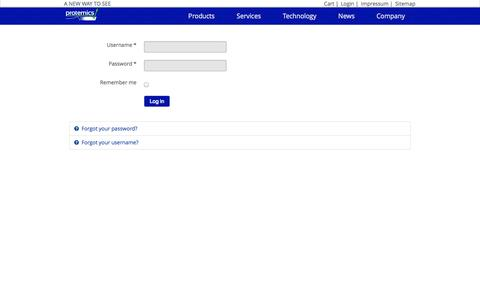 Screenshot of Login Page protemics.com - Protemics - Login | - captured Oct. 3, 2014