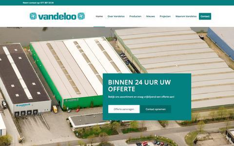 Screenshot of Home Page jvdloo.nl - Vandeloo – Uw leverancier voor draad. - captured Nov. 27, 2016