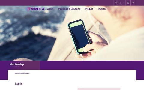 Screenshot of Login Page simula.com.tw - SIMULA - captured Feb. 4, 2016