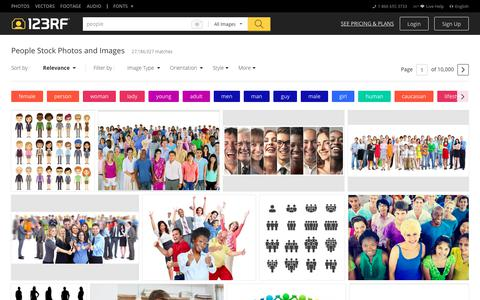 Screenshot of Team Page 123rf.com - People Stock Photos. Royalty Free People Images - captured July 9, 2018