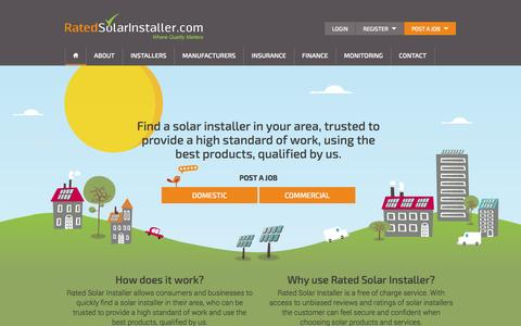 Screenshot of Home Page ratedsolarinstaller.com - Rated Solar Installer - Rated Solar Installer - captured Oct. 7, 2014