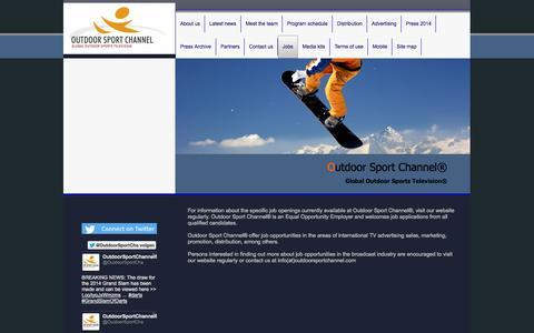 Screenshot of Jobs Page outdoorsportchannel-globalwide.com - Outdoor Sport Channel®-Jobs - captured Nov. 4, 2014
