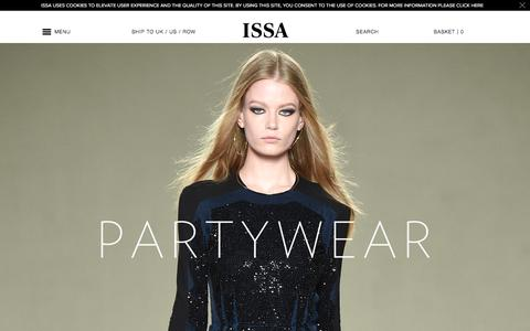 Screenshot of Home Page issalondon.com - Winter Formal Dresses | Issa London - captured Dec. 12, 2015