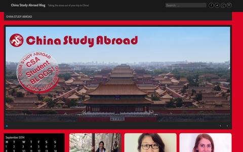 Screenshot of Blog chinastudyabroad.org - China Study Abroad Blog | Taking the stress out of your trip to China! - captured Sept. 29, 2014