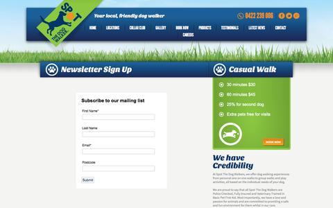 Screenshot of Signup Page spotdogwalk.com.au - Newsletter Sign Up   Spot The Dog WalkerSpot The Dog Walker - captured Oct. 7, 2014