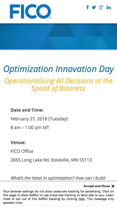 Optimization Innovation Day