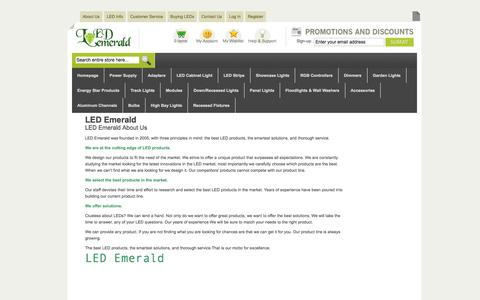 Screenshot of About Page Terms Page ledemerald.com - About Us - captured Oct. 22, 2014