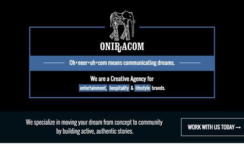 Screenshot of Home Page oniracom.com - Welcome : Oniracom - captured Sept. 13, 2015