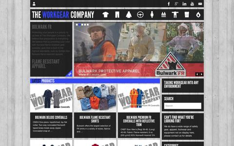 Screenshot of Home Page workgearcompany.co.nz - The Work Gear Company - captured Oct. 9, 2014