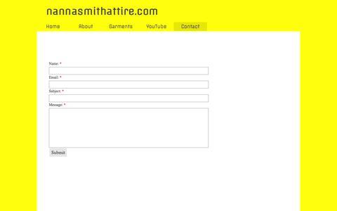 Screenshot of Contact Page nannasmithattire.com - Contact - captured Feb. 22, 2016