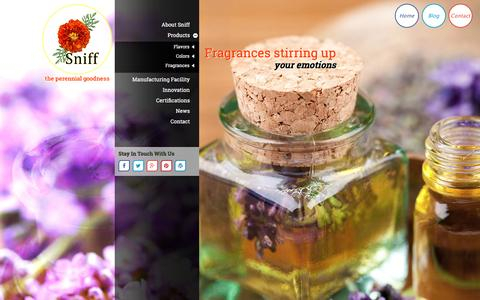 Screenshot of Home Page shimlaniff.com - Food Flavours Colours Fragrances Manufacturer India - Sniff - captured March 8, 2016