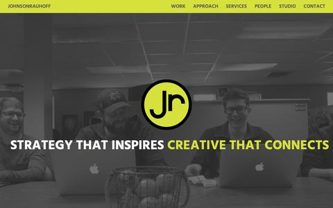 Screenshot of Home Page johnsonrauhoff.com - JohnsonRauhoff | Home - captured May 24, 2019