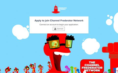 Screenshot of Signup Page frederator.com - Apply — Channel Frederator Network - captured Oct. 24, 2018