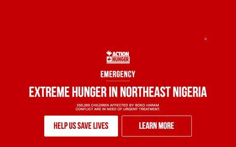 Screenshot of Blog actionagainsthunger.org - Blog   Action Against Hunger - captured Sept. 9, 2016