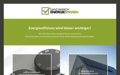 Screenshot of Home Page ganz-einfach-energiesparen.de - Ganz einfach Energiesparen - captured Feb. 3, 2018