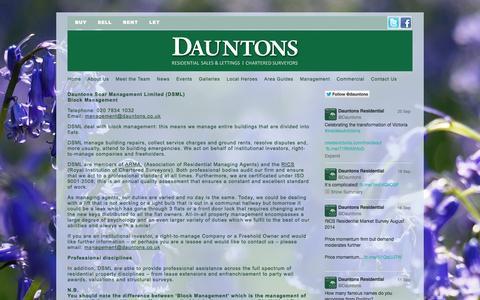 Screenshot of Team Page dauntons.co.uk - Pimlico Estate Agents and Chartered Surveyors: Dauntons | Management - captured Sept. 30, 2014