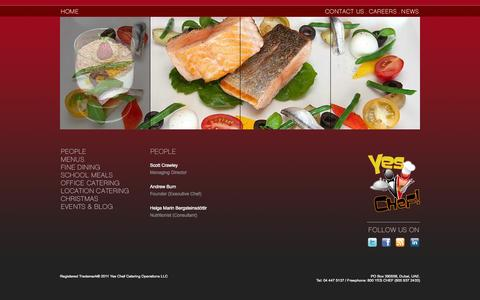 Screenshot of Team Page yeschef.ae - — Yes Chef! - captured Oct. 7, 2014