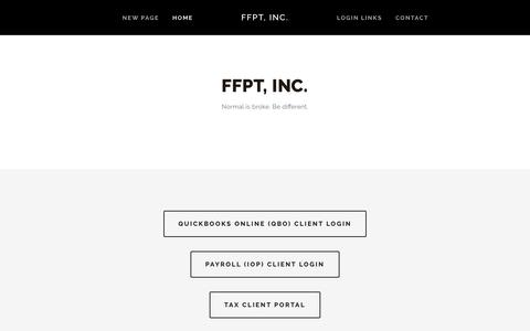 Screenshot of Home Page ffptinc.com - FFPT, Inc. - captured Nov. 6, 2018