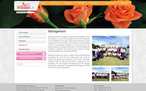 Screenshot of Team Page rosebudlimited.com - Management | Rosebud Limited - captured Oct. 1, 2014