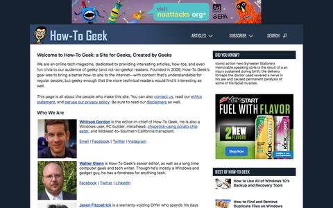 Welcome to How-To Geek: a Site for Geeks, Created by Geeks