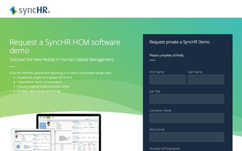Request an HCM Software Demo | SyncHR