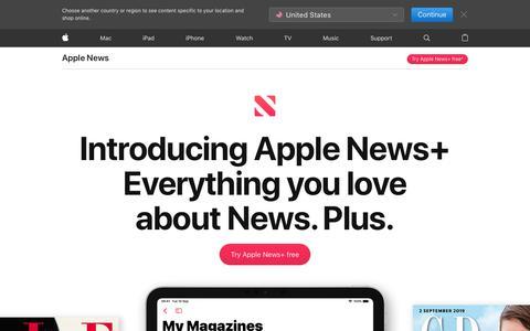 Screenshot of Press Page apple.com - Apple News - Apple (UK) - captured Nov. 8, 2019