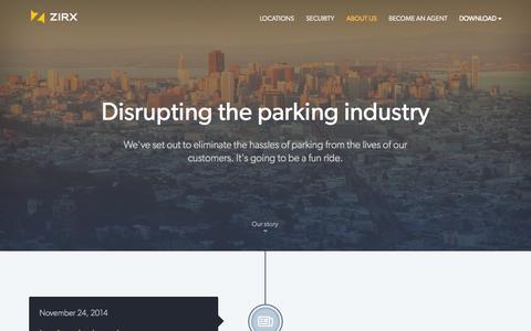 Screenshot of About Page zirx.com - ZIRX — About Us - captured Dec. 17, 2014