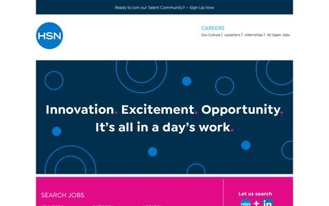 Screenshot of Jobs Page hsn.com - Working at HSN - captured Feb. 6, 2019