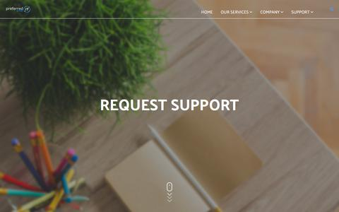 Screenshot of Support Page preferreditgroup.com - Request Support - captured Aug. 21, 2017