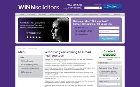 Screenshot of Press Page winnsolicitors.com - Motoring and legal News From Winn Solicitors - captured Oct. 7, 2014