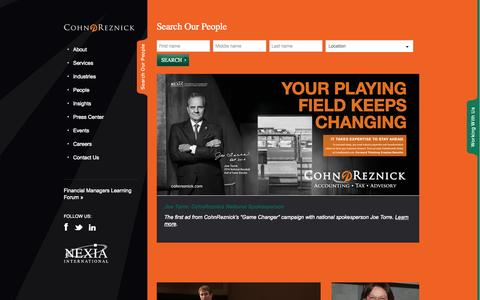 Screenshot of Team Page cohnreznick.com - People | CohnReznick - captured Oct. 10, 2014