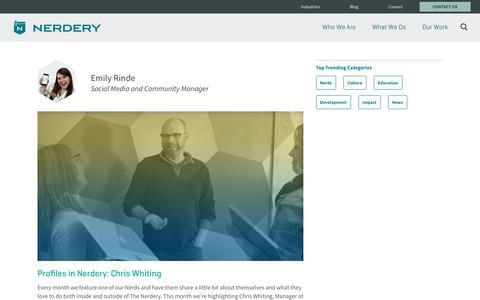 Screenshot of Blog nerdery.com - Custom Software Design and Development.  | The Nerdery - captured Sept. 9, 2016